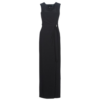 textil Mujer vestidos largos Lauren Ralph Lauren CAP SLEEVE JERSEY EVENING DRESS Negro