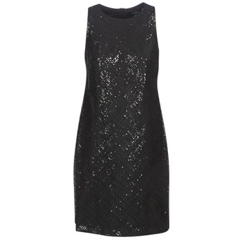 textil Mujer vestidos cortos Lauren Ralph Lauren SEQUINED SLEEVELESS DRESS Negro