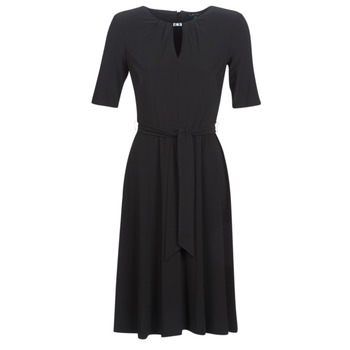 textil Mujer vestidos cortos Lauren Ralph Lauren 3/4 SLEEVE  JERSEY DAY DRESS Negro