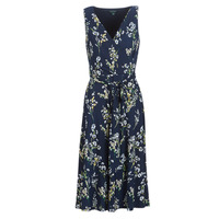textil Mujer vestidos largos Lauren Ralph Lauren FLORAL PRINT-SLEEVELESS-DAY DRESS Marino