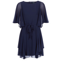 textil Mujer Vestidos cortos Lauren Ralph Lauren NAVY-3/4 SLEEVE-DAY DRESS Marino
