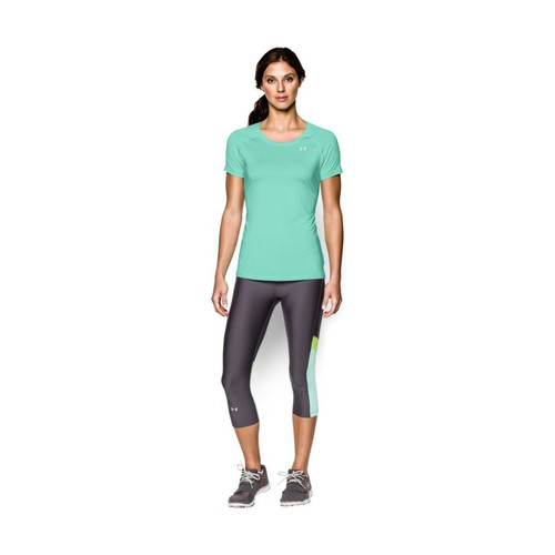 textil Mujer camisetas manga corta Under Armour Alpha Stripe SS Azul