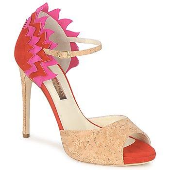 Zapatos Mujer Sandalias Rupert Sanderson FLAMANTE Rojo / Negro
