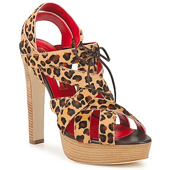 Zapatos Mujer Sandalias Rupert Sanderson BRISE Leopardo