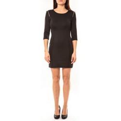 textil Mujer Vestidos cortos Vera & Lucy Robe Lucce LC-0228 Noir Negro
