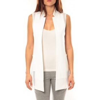 textil Mujer Chaquetas de punto Vera & Lucy Gilet Lucce LC-7012 Blanc Blanco