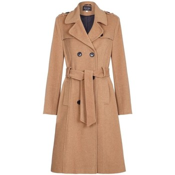 textil Mujer Trench De La Creme Gabardina de lana y cachemir con cinturón de invierno Beige