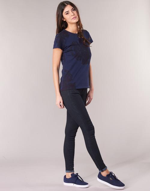 Mujer Raw Textil star D Super Slim Cuero Lynn Skinny Vaqueros mid G AzulPigmentos KJl1TFc