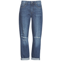 textil Mujer Vaqueros boyfriend G-Star Raw 3302 SADDLE MID BOYFRIEND Azul / Medium / Envejecido / Ripped