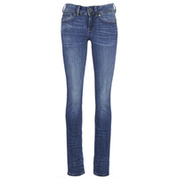 textil Mujer vaqueros rectos G-Star Raw MIDGE SADDLE MID STRAIGHT Azul / Medium / Indigo / Envejecido