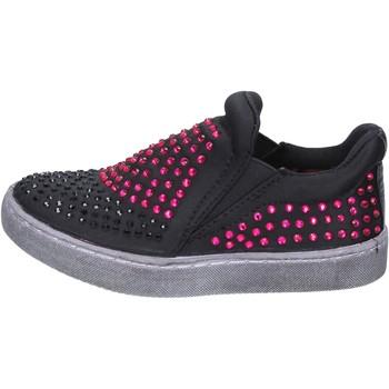 Zapatos Niña Slip on Lulu slip on negro textil strass BT332 negro
