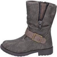 Zapatos Niña Botines Manairons botines gris cuero BT347 gris