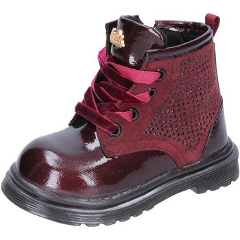 Zapatos Niña Botas urbanas Lulu botines burdeos cuero gamuza BT356 rojo