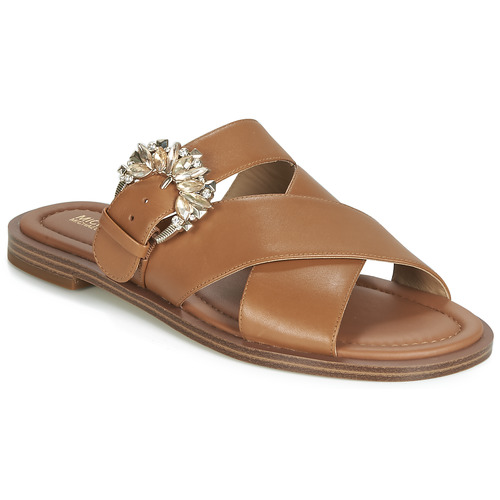 Zapatos Mujer Zuecos (Mules) MICHAEL Michael Kors FRIEDA SLIDE Marrón