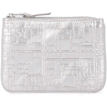 Bolsos Mujer Bolso pequeño / Cartera Comme Des Garcons Bolso clutch de piel plata estampada Plata