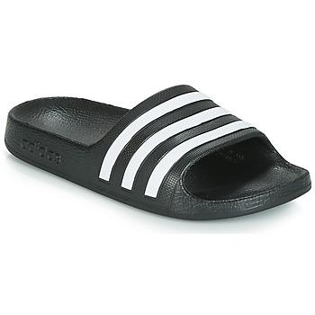 Zapatos Niños Chanclas adidas Performance ADILETTE AQUA K Negro / Blanco