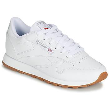Zapatos Mujer Zapatillas bajas Reebok Classic CL LTHR Blanco