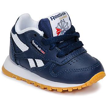 Zapatos Niño Zapatillas bajas Reebok Classic CLASSIC LEATHER Azul / Blanco