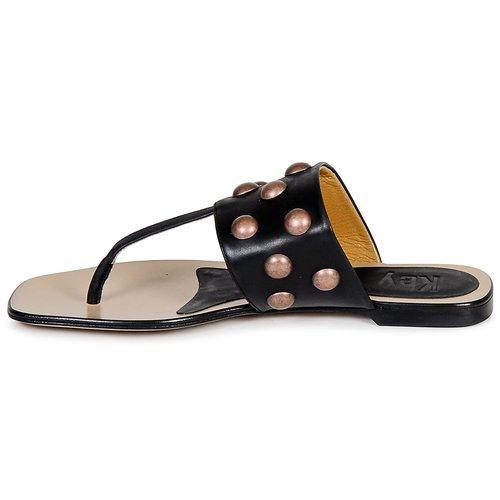 Mujer Keyté Negro Dellia Chanclas Zapatos kXuiOZP