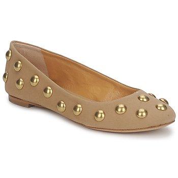 Zapatos Mujer Bailarinas-manoletinas Keyté CANDY TESSU Beige