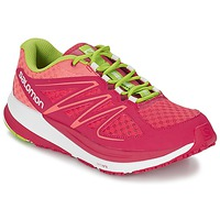 Zapatos Mujer Running / trail Salomon SENSE PULSE WOMAN Rosa / Naranja / Verde