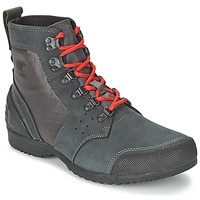 Zapatos Hombre Botas de caña baja Sorel ANKENY MID HIKER RIPSTOP Negro / Gris