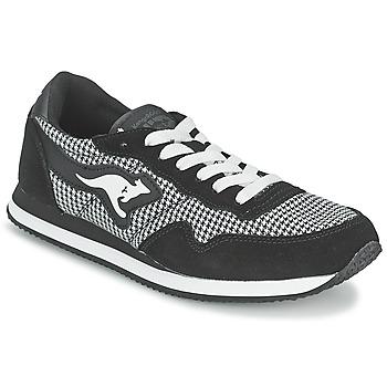 Zapatos Mujer Zapatillas bajas Kangaroos INVADER TWEED Gris / Negro