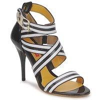 Zapatos Mujer Sandalias Charles Jourdan BARBARA Negro / Blanco