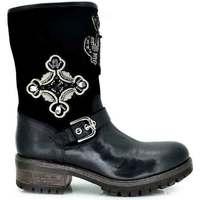 Zapatos Mujer Botas de agua Exé Shoes BOTA MOTERA BORDADO TRINITY-860 Color Negro