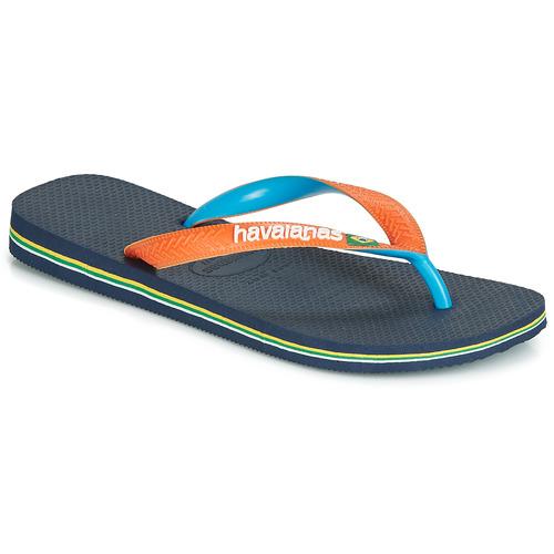 Zapatos Chanclas Havaianas BRASIL MIX Marino / Naranja