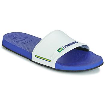 Zapatos Chanclas Havaianas SLIDE BRASIL Marino / Blanco