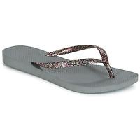 Zapatos Mujer Chanclas Havaianas SLIM LOGO METALLIC Gris
