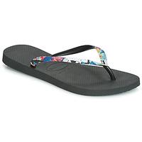 Zapatos Mujer Chanclas Havaianas SLIM STRAPPED Negro