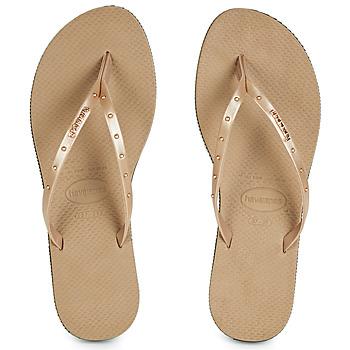 Zapatos Mujer Chanclas Havaianas YOU MAXI Rosa / Gold