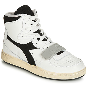 Zapatos Zapatillas altas Diadora MI BASKET USED Blanco / Negro
