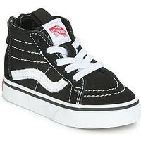 Zapatos Niños Zapatillas altas Vans SK8-HI ZIP Negro / Blanco
