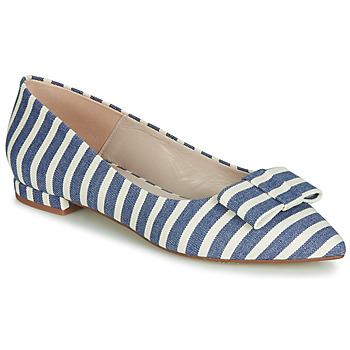 Zapatos Mujer Bailarinas-manoletinas Fericelli JILONOU Azul / Blanco