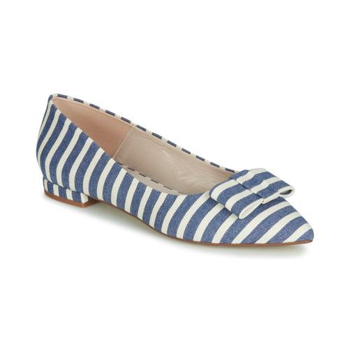 Jilonou Bailarinas Mujer manoletinas Zapatos Fericelli AzulBlanco 4j35LRcAqS