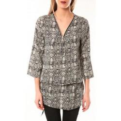 textil Mujer Vestidos De Fil En Aiguille Robe Noémie & Co E1485-13 Noir/Blanc Negro