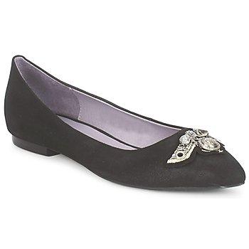 Zapatos Mujer Bailarinas-manoletinas Couleur Pourpre TIMEA Negro
