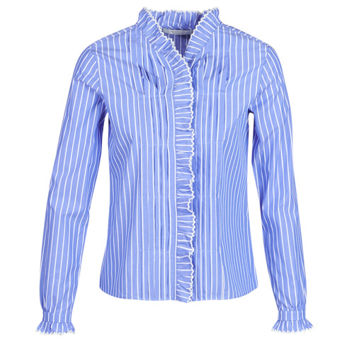 textil Mujer camisas Maison Scotch LONG SLEEVES SHIRT Azul / Claro