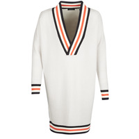 textil Mujer jerséis Maison Scotch WHITE LONG SLEEVES Blanco / Crema