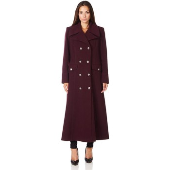 textil Mujer Abrigos De La Creme Cuello  de abrigo de invierno de lana de cachemira militar Red