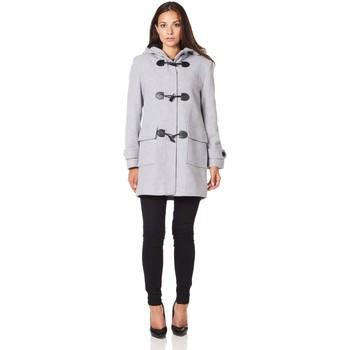 textil Mujer Abrigos De La Creme Bata de invierno de cachemir con capucha de lana Grey