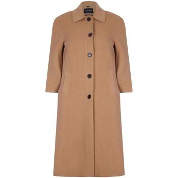 textil Mujer Abrigos De La Creme Abrigo largo de invierno con mezcla de lana y cachemir Beige