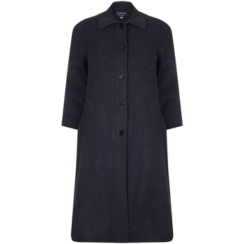 textil Mujer Abrigos David Barry Abrigo de invierno de lana cruzado de invierno Grey