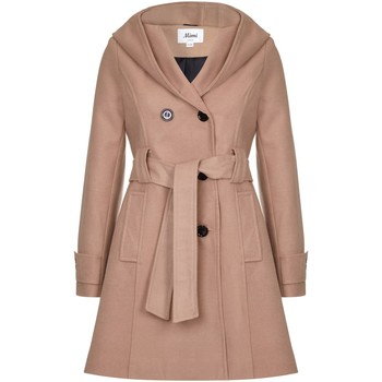 textil Mujer Abrigos De La Creme Abrigo de invierno con capucha Beige