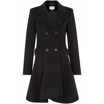 textil Mujer Abrigos De La Creme Abrigo de invierno de lana cruzado de invierno Negro