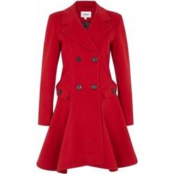 textil Mujer Abrigos De La Creme Abrigo de invierno de lana cruzado de invierno Red