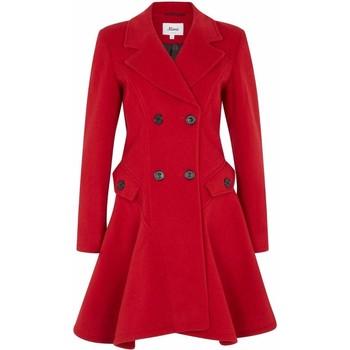 textil Mujer Abrigos De La Creme Abrigo de invierno de lana cruzado de invierno Rojo